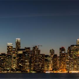 Toronto skyline at dusk panoramic 3835